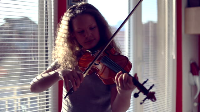 practice at home - violin stock videos & royalty-free footage