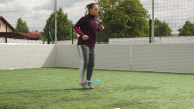 practice makes perfect - female soccer - skill stock videos & royalty-free footage