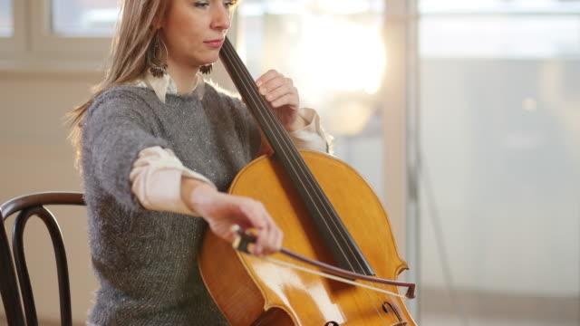 practice makes wonders - cellist stock videos & royalty-free footage