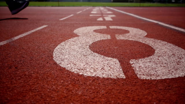 practice runner training - track and field event stock videos and b-roll footage