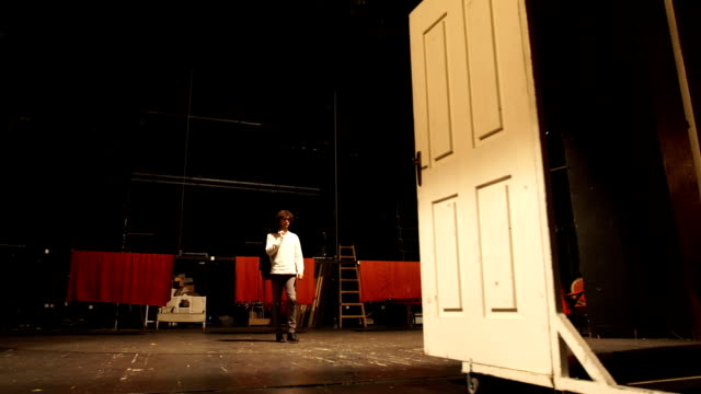 practice the scene before performance - theatrical performance stock videos & royalty-free footage