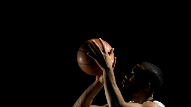 practicing a free throw (super slow motion) - basketball stock videos and b-roll footage