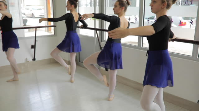 practicing for performance - ballet studio stock videos & royalty-free footage