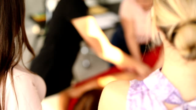 practicing massage in massage school - alternative therapy stock videos & royalty-free footage