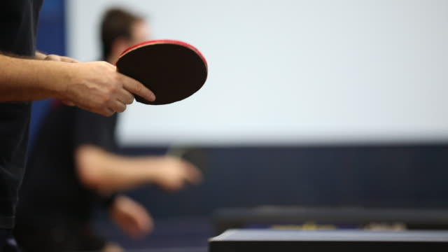 practicing ping pong - table tennis stock videos & royalty-free footage