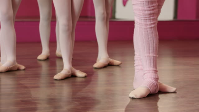 practicing the steps - leg warmers stock videos & royalty-free footage