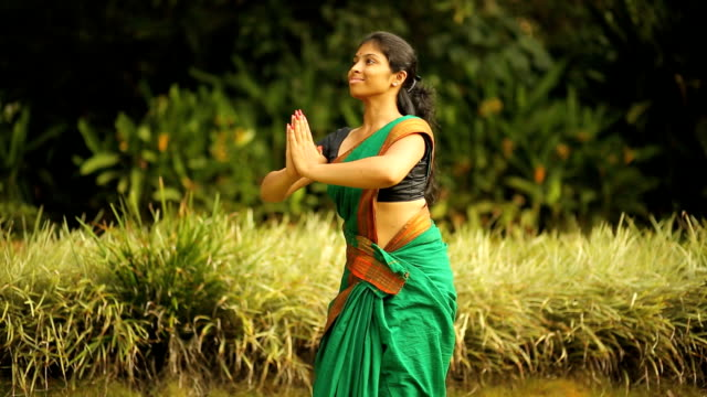 Practising Indian Dancer