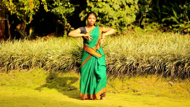 practising indian dancer - traditional dancing stock videos and b-roll footage
