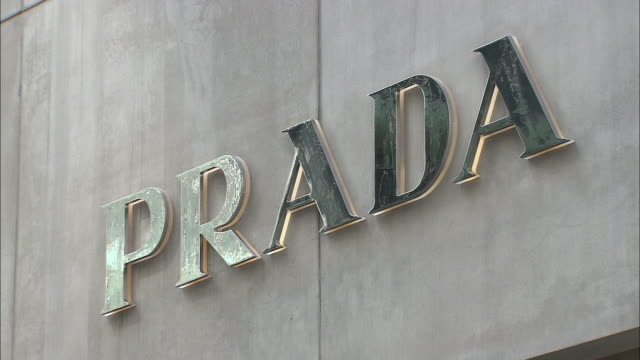 cu, prada sign on building exterior, fifth avenue, new york city, new york, usa - fifth avenue stock videos & royalty-free footage