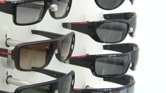 Prada Sunglasses at the Prada and Sunglass Hut Open the First Temporary Eyewear Concept Store at New York NY