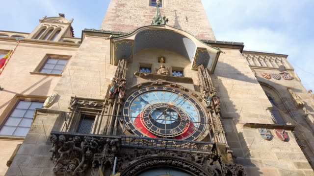 prague astronomical clock - stare mesto stock videos & royalty-free footage