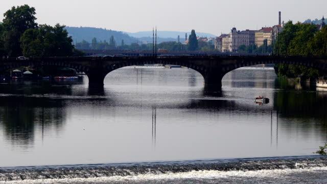 prague bridge view - stare mesto stock videos & royalty-free footage