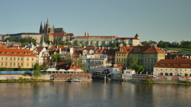 prague castle and st. vitus's cathedral, prague - stare mesto stock videos & royalty-free footage