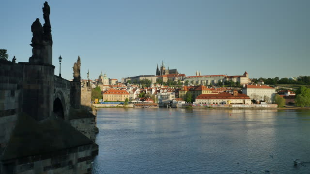 prague castle and st. vitus's cathedral, prague - hradcany castle stock videos and b-roll footage