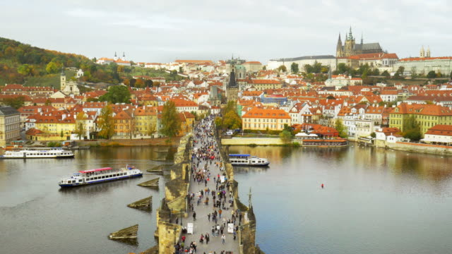 Prague Charles Bridge And Hradcany Castle