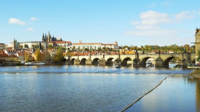 Prague Charles Bridge And Hradcany Hill
