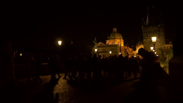 Prague Charles Bridge At Night