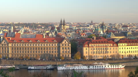 prague city view - stare mesto stock videos & royalty-free footage