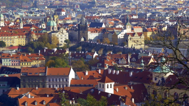 Prague City View With Charles Bridge