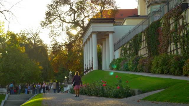 prague hartig garden und pavilion bellevue - hradcany castle stock videos & royalty-free footage