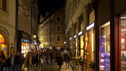 prague karlova street at night - stare mesto stock videos & royalty-free footage