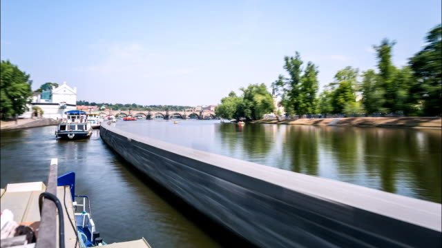 prague moldova river time lapse - moldova stock videos and b-roll footage