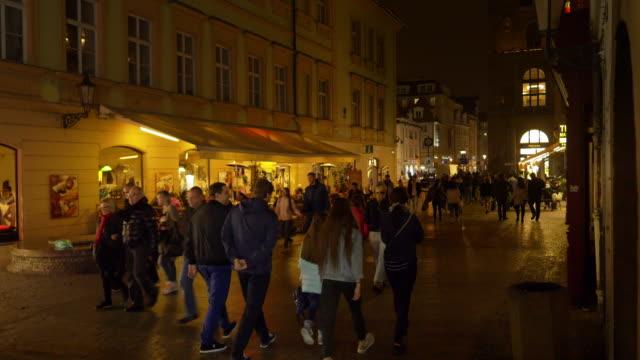 Prague Na Můstku Street At Night