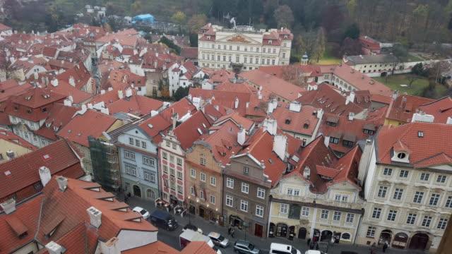 prague nerudova street and embassy of germany (palais lobkowicz) - embassy stock videos & royalty-free footage