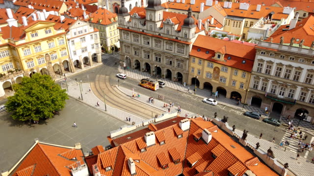 prague old city view - bohemia czech republic stock videos & royalty-free footage