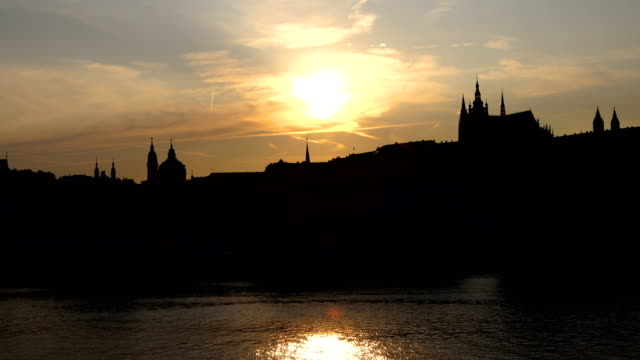 prague old city view - charles bridge stock videos & royalty-free footage