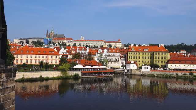 prague old city view - stare mesto stock videos & royalty-free footage