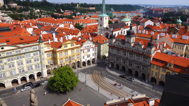 prague old city view - czech republic stock videos & royalty-free footage