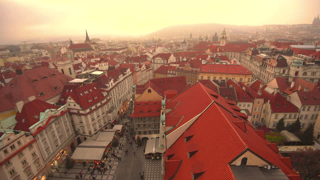 prague old town at christmas time - stare mesto stock videos & royalty-free footage