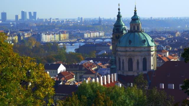 Prague Skyline and Church of St. Nicholas