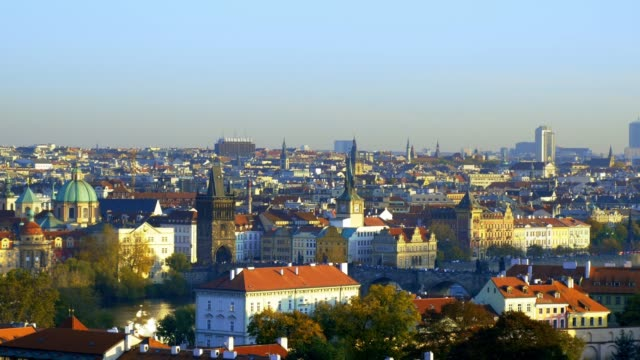 Prague Skyline with Charles Bridge and Old Town