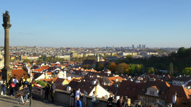 prague skyline with the skyscrapers of the pankrác district - mala strana stock videos and b-roll footage