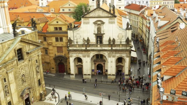 prague st. salvator church (st. savior church) and karlova street - stare mesto stock videos & royalty-free footage
