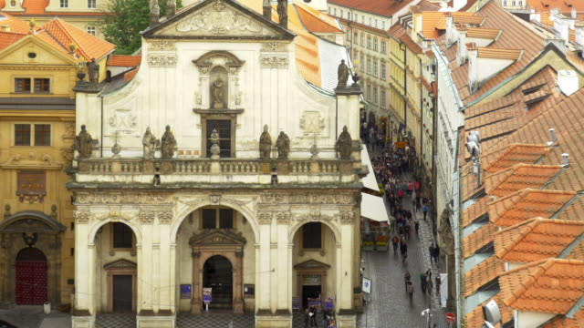 prague st. salvator church (st. savior church) and karlova street - prague stock videos & royalty-free footage