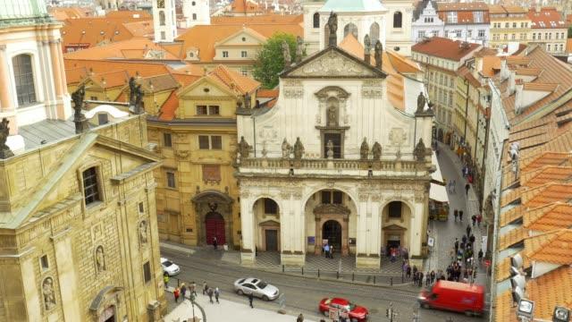 prague st. salvator church (st. savior church) and karlova street - prague stock videos & royalty-free footage