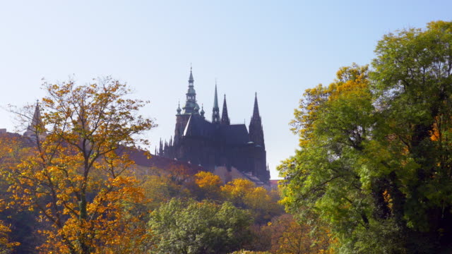 prague st vitus cathedral from the northeast - hradcany castle stock videos and b-roll footage