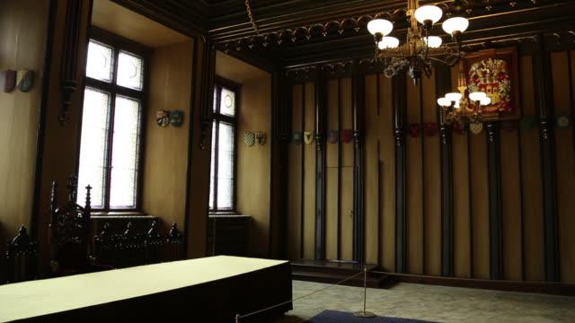 prague, town square, interior of the old town hall - プラハ旧市庁舎点の映像素材/bロール