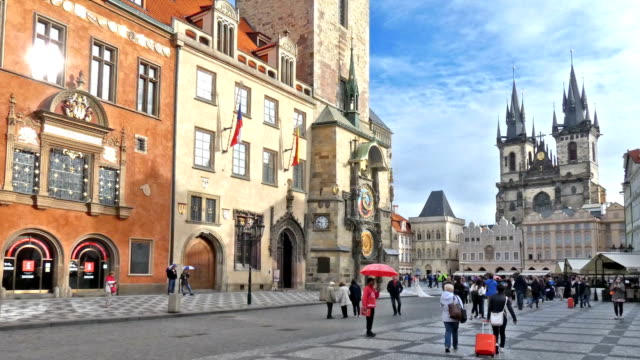 prague - astronomical clock prague stock videos and b-roll footage
