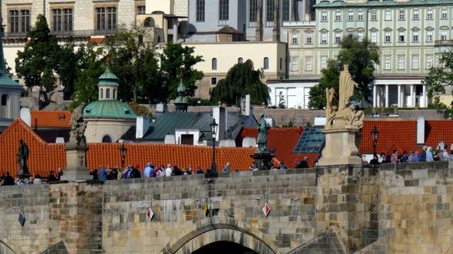 prague - charles bridge stock videos & royalty-free footage