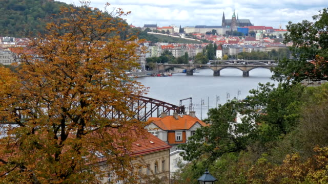 prague - river vltava stock videos & royalty-free footage