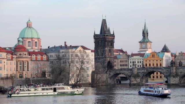 prague - river vltava stock videos & royalty-free footage