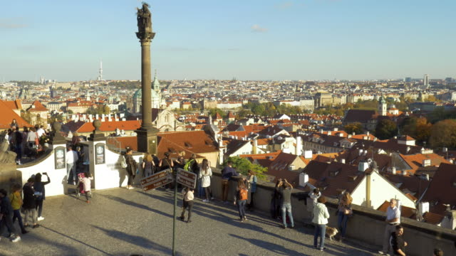 prague viewed from hradcany hill - st nicholas's church prague stock videos and b-roll footage