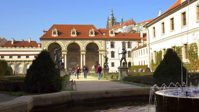 prague wallenstein garden - czech republic stock videos & royalty-free footage