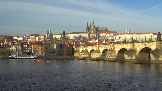 prague with charles bridge - traditionally czech stock videos & royalty-free footage
