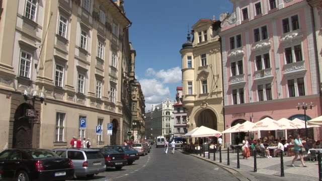 praguea city street in prague czech republic - traditionally czech stock videos & royalty-free footage