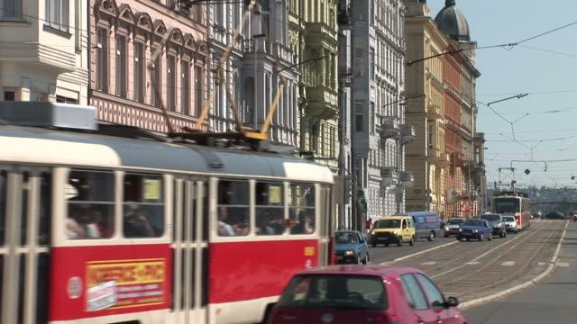 PragueCity Street in Prague Czech Republic